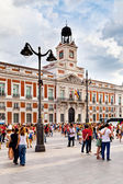 Casa de Correos in Puerta del Sol, Madrid, one of the famous lan — Stock Photo