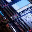 grote audio mixing console — Stockfoto