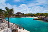 Xcaret Beach in the Mayan Riviera — Stock Photo