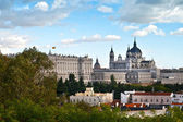 Royal Palace and Almudena Cathedral, Madrid — Stock Photo