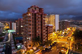 Puerto de la Cruz at Night — Stock Photo