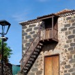 Colonial Rural House Facade in Tacoronte, Tenerife — Foto Stock