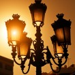 Vintage Streetlamp at Sunset — ストック写真