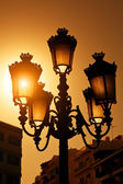 Vintage Streetlamp at Sunset — Stock Photo