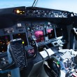 Passenger Aircraft Cockpit — Stock Photo