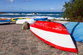Rowboats in Taganana Coast — Stock Photo