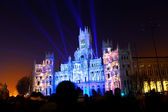 Light Show in Cibeles Square, Madrid — Stock Photo