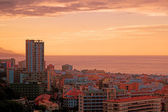 Sunset in Puerto de la Cruz, Tenerife — Stock Photo