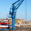 Small Crane in Puerto de la Cruz Jetty — Stock Photo