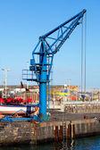 Small Crane in Puerto de la Cruz Jetty — Stock Photo