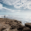 Lonely Man Looking at Sea — Stock Photo