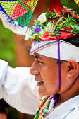 Traditional Mayan Flyer Man in the Dance of the Flyers Ceremony — Stock Photo