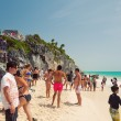 Enjoying in Tulum Beach — Stock Photo #19149439