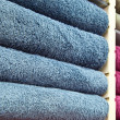 Piles of Multicolored Towels — Stock Photo