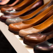 Close-up image of leather shoes in a shop — Stock Photo #21815047
