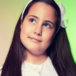 Portrait of a Little Girl in her First Communion Day — Stock Photo
