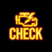Check Engine Signal — Stock Photo