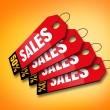 Stock Photo: Colourful Sales Labels