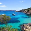 Moored Yachts in Cala Fornells, Majorca — Stock Photo
