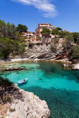 Old Rowboat Moored in Cala Fornells, Majorca — Stock Photo