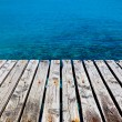 Wooden Dock Besides the Sea — Stock Photo