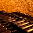 Wine Bottles in an Old Wine Cellar — Stock Photo