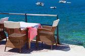 Scenic Terrace in Andratx Harbor — Stock Photo