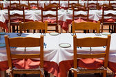 Outdoor Banquet Table — Stock Photo