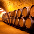 Antique Wine Cellar with Wooden Barrels — Stock Photo