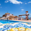 Scenic Swimming Pool in a Summer Day — Stock Photo