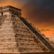 Kukulkan Pyramid in Chichen Itza Site, Mexico — Stock Photo
