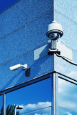 Security Camera in a Modern Building — Stock Photo