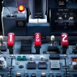 Aircraft Dashboard Panel — Stock Photo