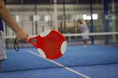 Playing Padel Tennis — Stock Photo
