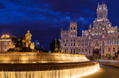 Cibeles Square at Night — Stock Photo