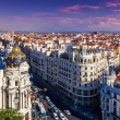 Gran Via Street, Madrid — Stock Photo #29756085