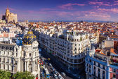 Gran Via Street, Madrid — Stock Photo