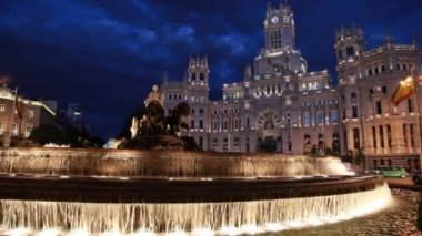 Cibeles Square, Madrid — Stock Video