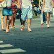 Stock Photo: People Crossing Street