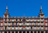 Front Facade of Plaza Mayor Building, Madrid — Stock Photo