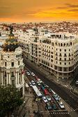 Gran Via Street, Madrid — Stock Photo