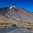 Car Approaching to Teide Volcano, Tenerife — Stock Photo