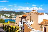 Vista del mar mediterraneo dal villaggio di paguera — Foto Stock