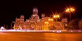 Cibeles Square at Night, Madrid — Stock Photo