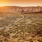 Desertic Road in Orotava Valley, Tenerife — Stock Photo
