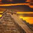 Kukulkan Pyramid in Chichen Itza Site — Stock Photo #34009409