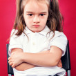 Stock Photo: Angry Little Girl