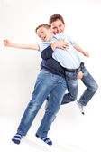 Two Brothers Laughing and Playing — Stock Photo