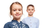 Two Brothers Smiling — Stock Photo