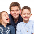 Little Brothers Smiling — Stock Photo